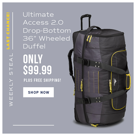 Last Chance Weekly Steal - Ultimate Access 2.0 Drop Bottom 36 · High Sierra  Cermak Adventure Travel Luggage ... 0e72f4847d