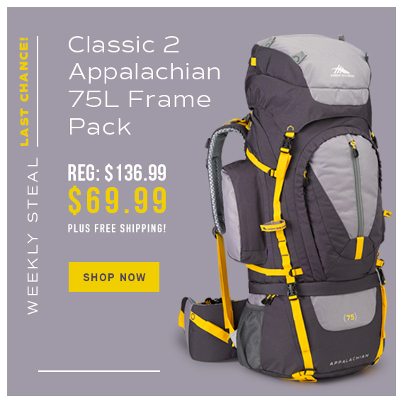 93cabbb0dc9 Last Chance - Weekly Steal Special Pricing! Get the Classic 2 Appalachian  75 Framepack for